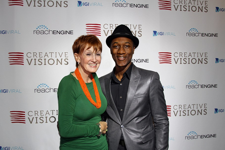 Kathy Eldon of Creative Visions and singer/songwriter Aloe Blacc. Photo courtesy of Luminary Daily.com