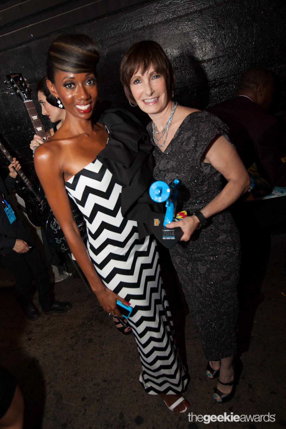 Joy Donnell and legendary producer Gale Ann Hurd at The Geekie Awards.