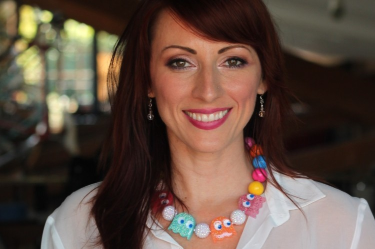 kristen nedopak pacman necklace geek fashion
