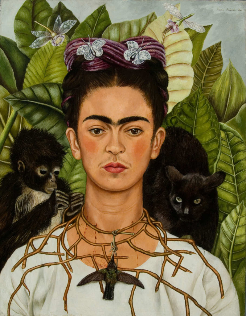 frida kahlo self portrait nybg botanical herrera
