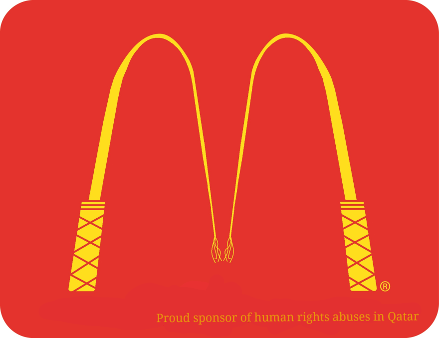 qatar world cup mcdonalds anti logo