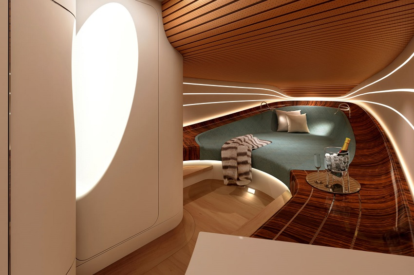 Aeroboat speedboat powerboat cabin champagne