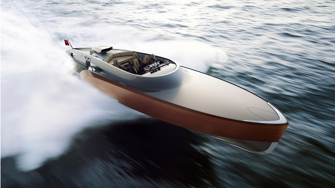 aeroboat powerboat speedboat luxury