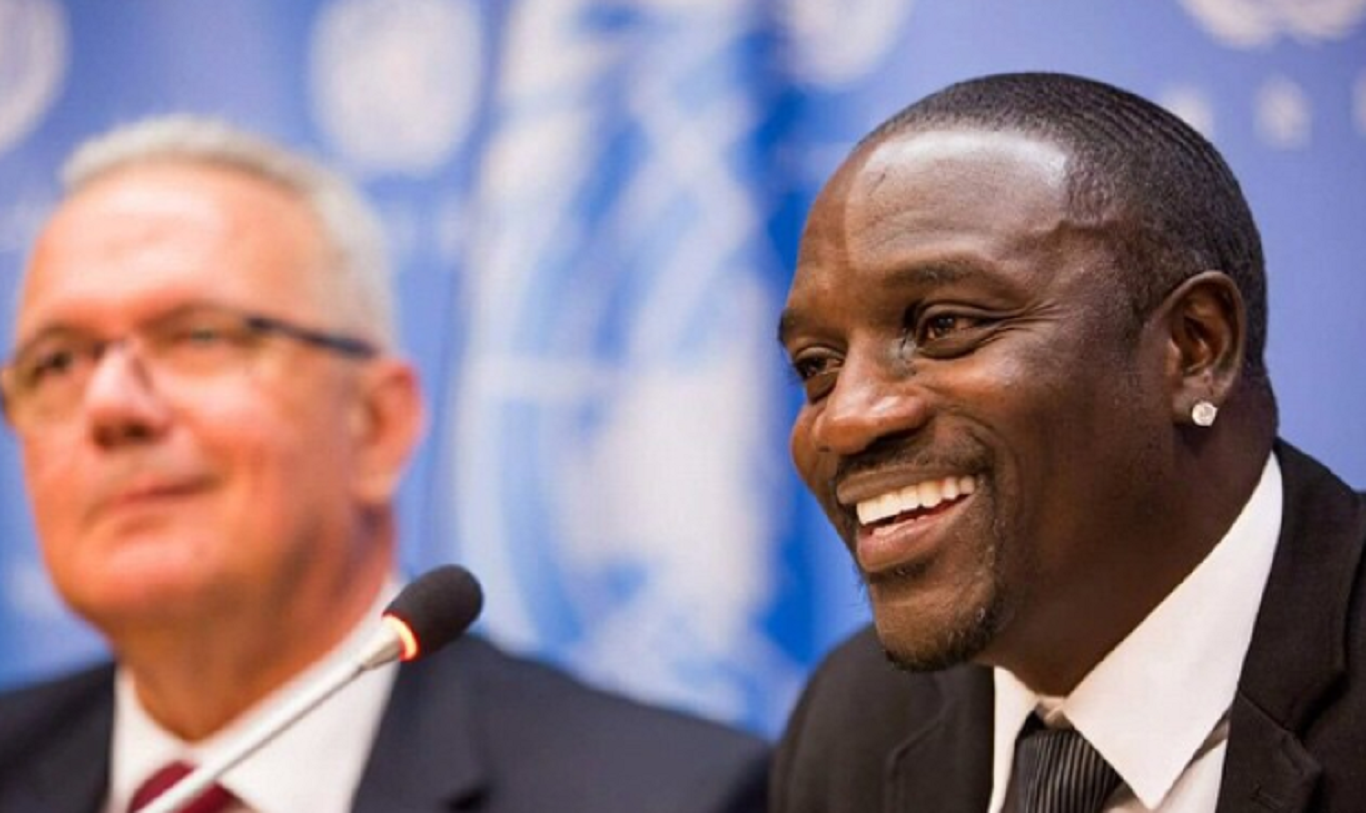 akon at united nations akonlightingafrica