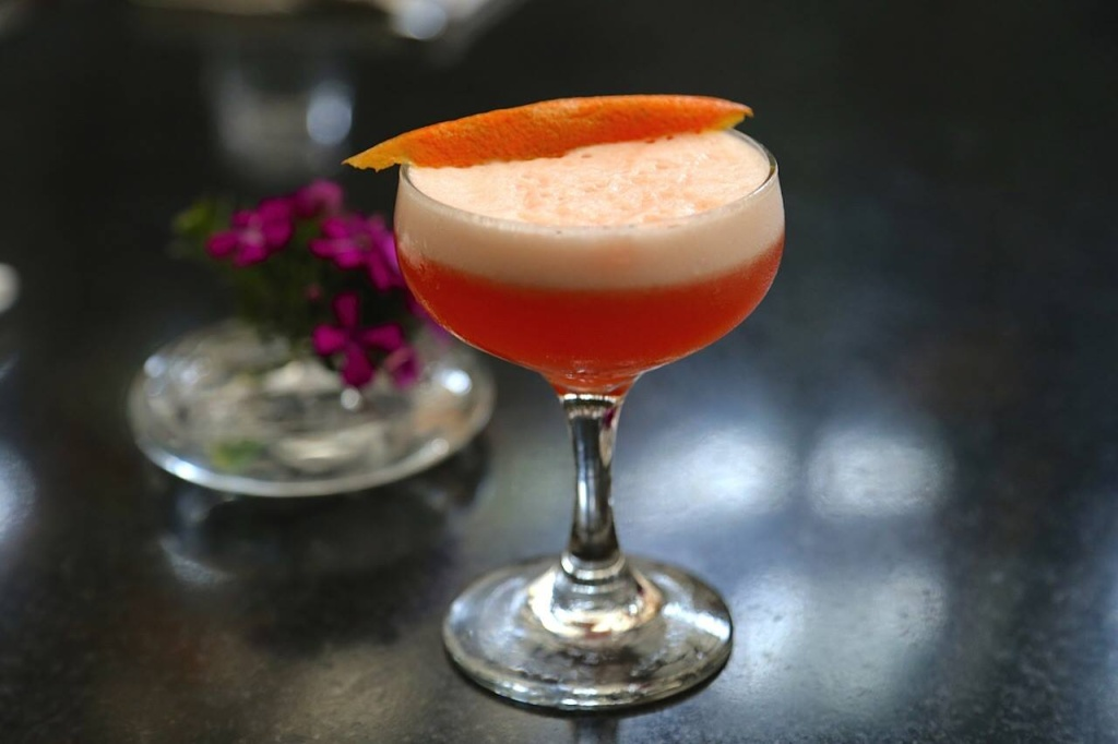 hinoki aperol fizz cocktail