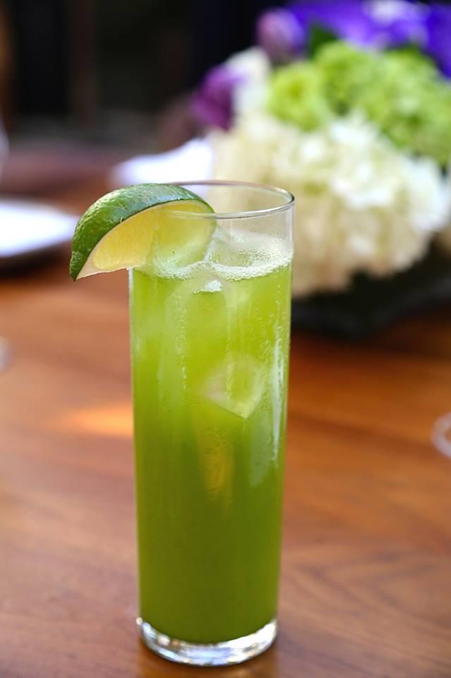 hinoki summer gin rickey matcha