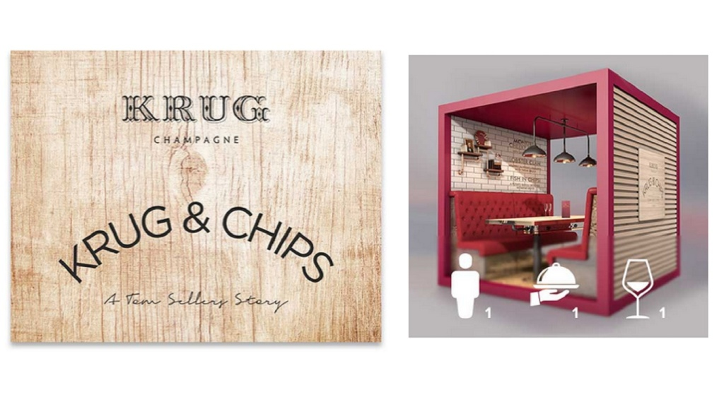 krug and chips dining pod