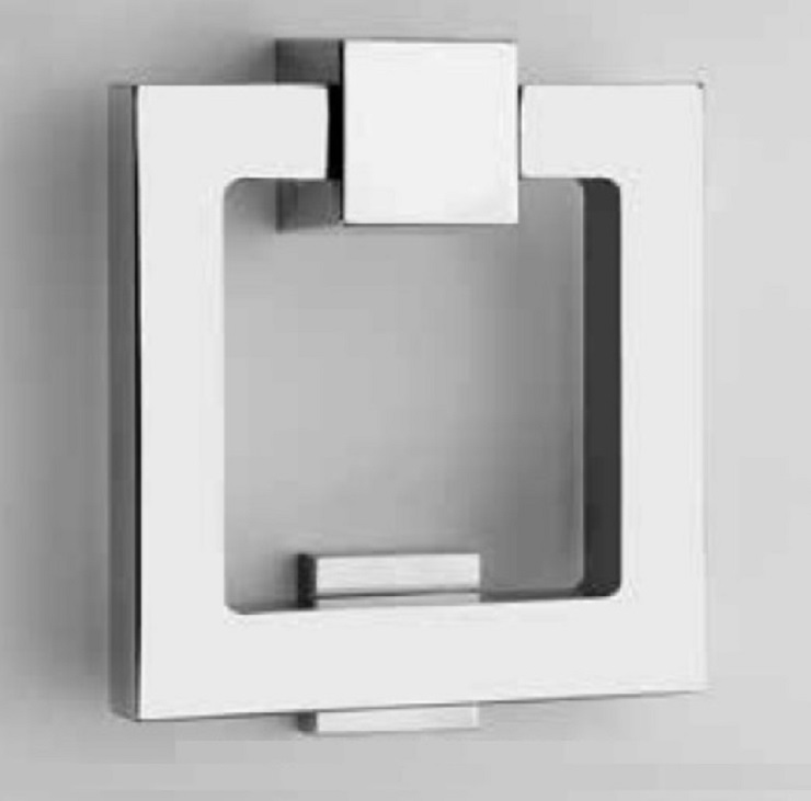 modern door knocker square minimalism