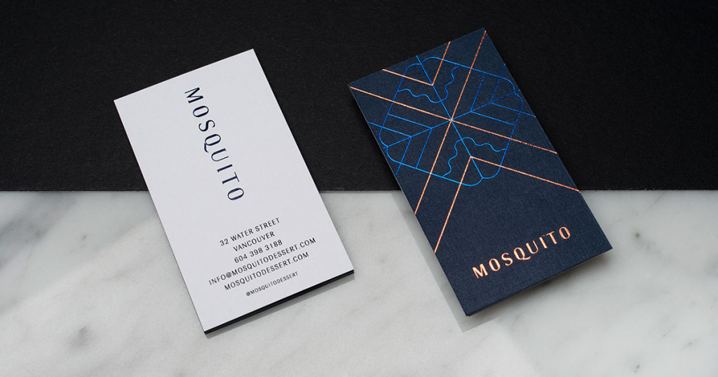 mosquito dessert bar branding cards