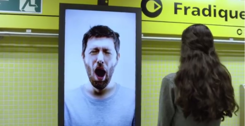 yawning coffee billboard 2015 interactive