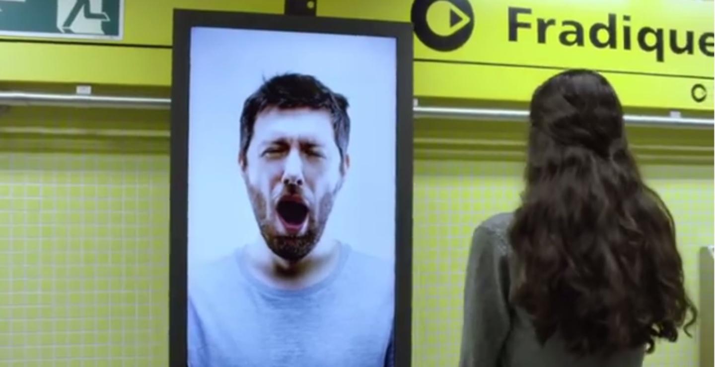 yawning coffee billboard 2015 interactive