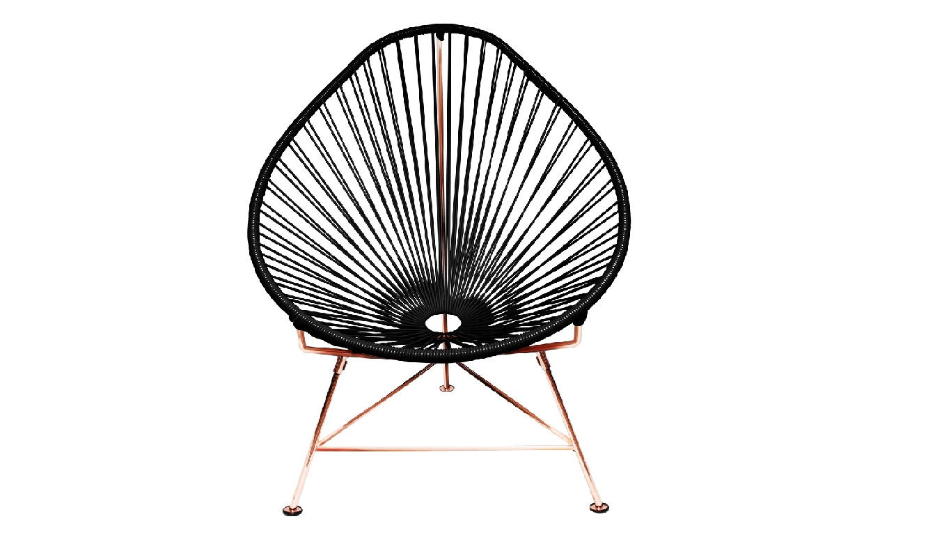 black acapulco chair copper modern