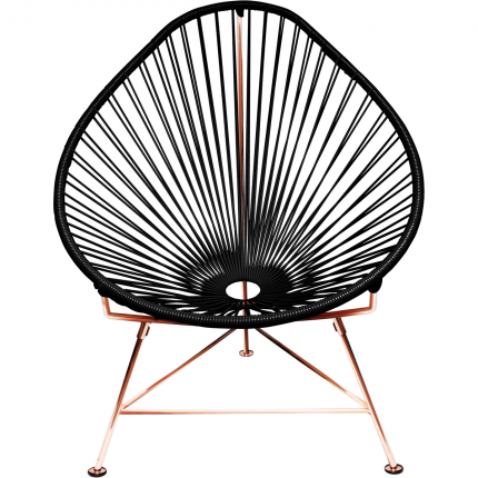 black acapulco chair modern copper