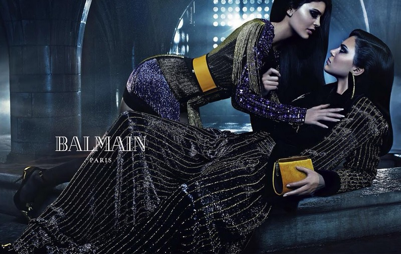 kylie kendall jenner balmain sibling campaign