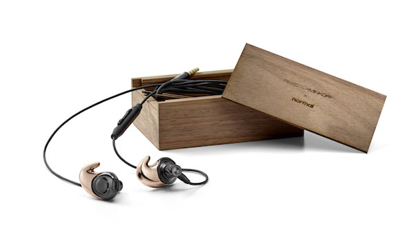 rebecca minkoff normal rose gold earbuds