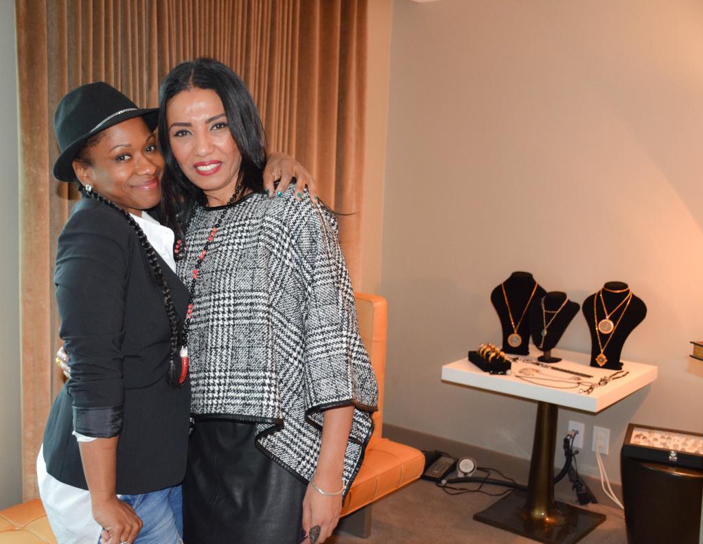 Okera Banks with Amany Shaker. Photo by Lisa Donahue.