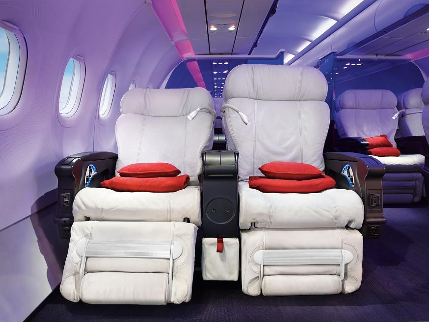 virgin america flight of modern fancy seats