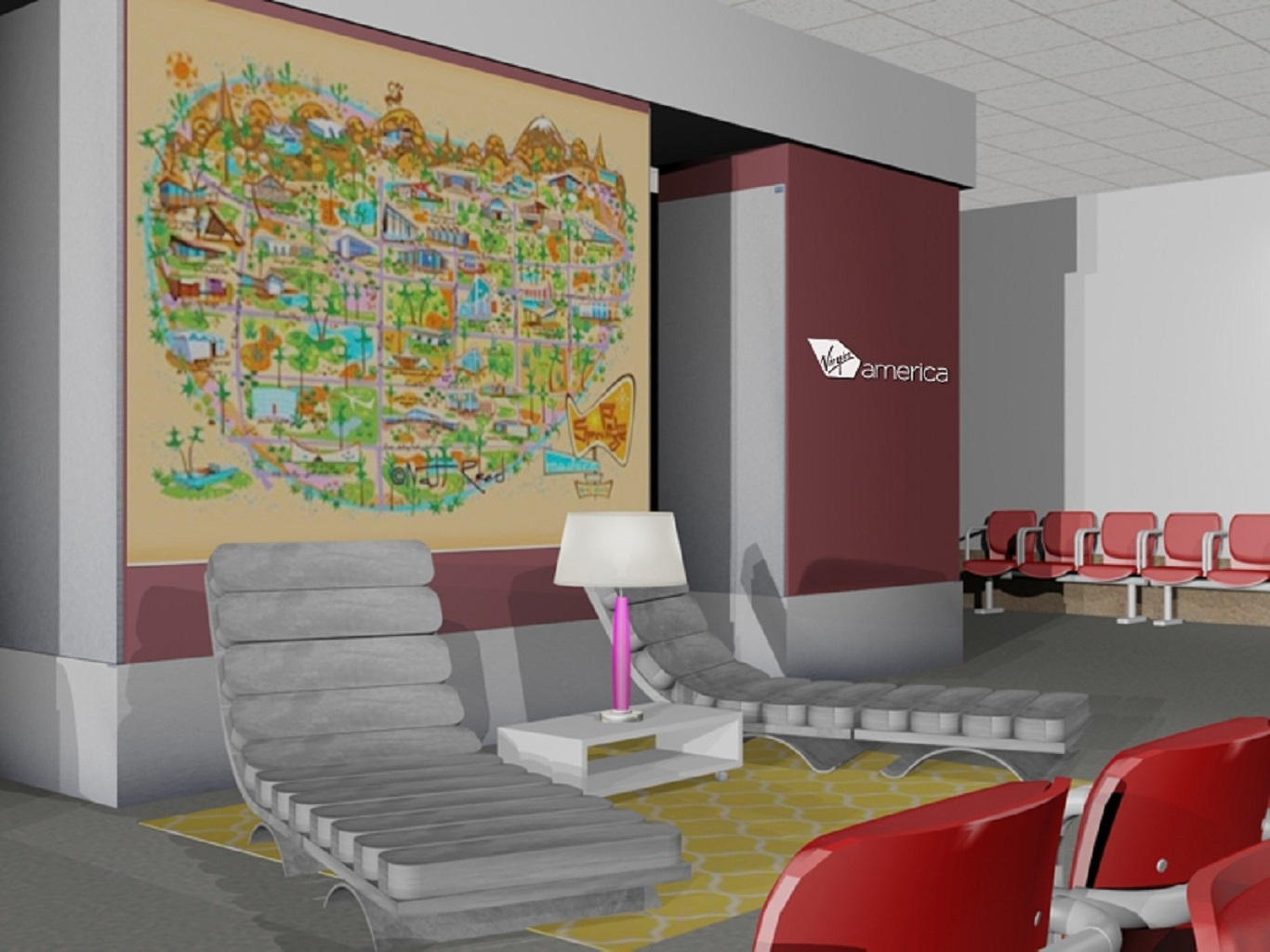Virgin America PSP Rendering