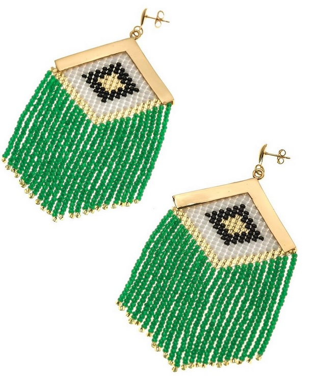 rombo earrings green makua jewelry colombia