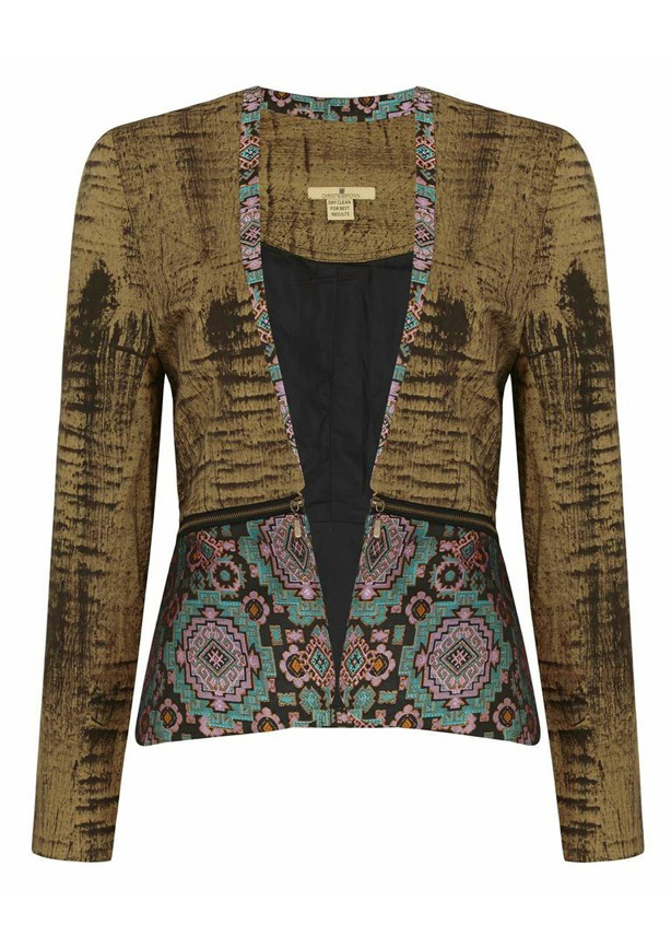 Ghanaian designer Christie Brown Bogolan Jacket available at Onychek.com for $350.