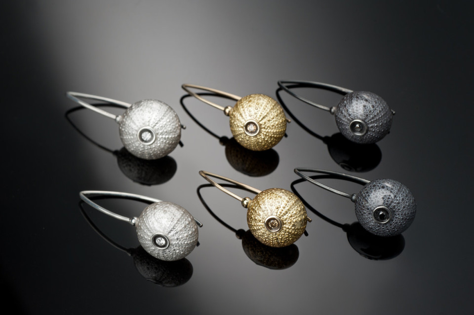 sea urchin earrings barbara jardin