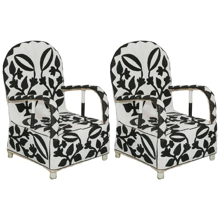 african nigerian beaded chairs