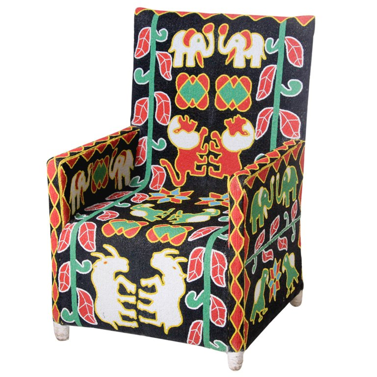 nigerian beaded nobility chair