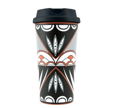 Robin Teller Traditional Pottery Design Travel Mug back