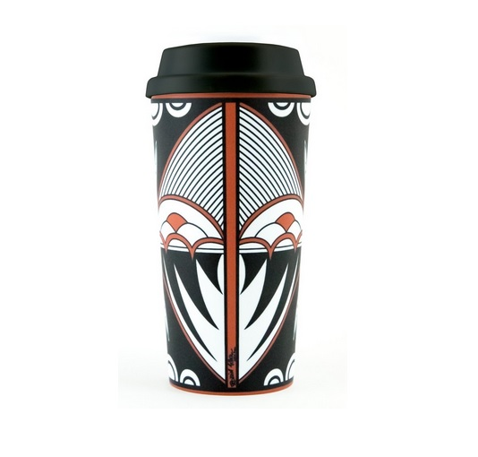Robin Teller Traditional Pottery Design Travel Mug