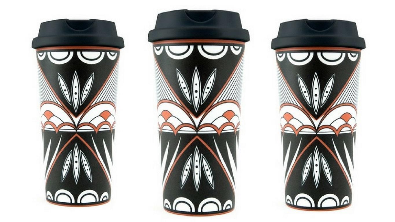 robin teller pueblo pottery travel mug